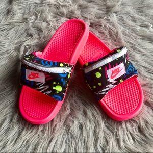 Nike Benassi JDI Fanny Pack Printed Slides 12